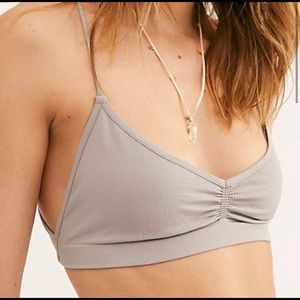 Free People Intimates & Sleepwear - Free People Strappy Back Bra Dove Grey XS/S or M/L
